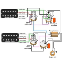 Custom Guitar Wiring Diagrams | GuitarElectronics.com | Guitar Wire Harness Schematic |  | Guitar Electronics
